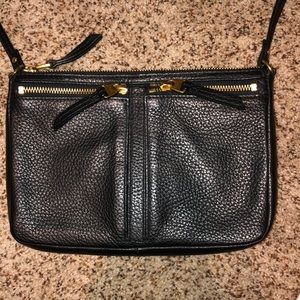 Black Fossil Crossbody